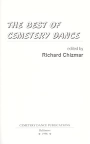 Cover of: Best of Cemetery Dance
