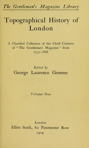 Cover of: Topographical history of London
