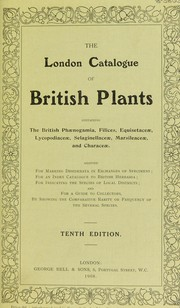 Cover of: The London catalogue of British plants. |