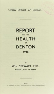Cover of: [Report 1935] | Denton (England). Urban District Council