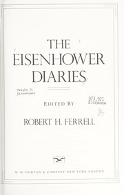 Cover of: The Eisenhower Diaries