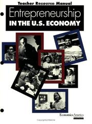 Cover of: Entrepreneurship in the U.S. economy | Alan D. Stafford