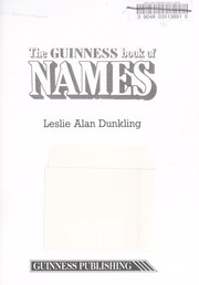 Cover of: Guinness Names