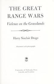 Cover of: The great range wars : violence on the grasslands |