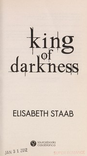 Cover of: King of darkness | Elisabeth Staab