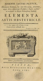 Cover of: Josephi Jacobi Plenck ... Elementa artis obstetriciae