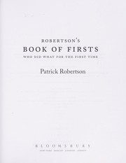Cover of: The book of firsts