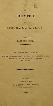 Cover of: A treatise on surgical anatomy
