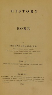 Cover of: History of Rome | Arnold, Thomas