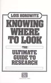 Cover of: Knowing Where to Look