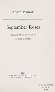 Cover of: September roses