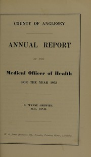 Cover of: [Report 1952] | Anglesey (Wales). County Council. no2003102100