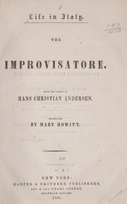 Cover of: The improvisatore