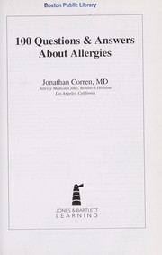 Cover of: 100 questions & answers about allergies | Jonathan Corren