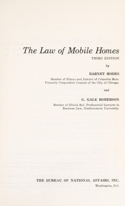 Cover of: The law of mobile homes