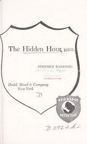 Cover of: The hidden hour | Stephen Ransome