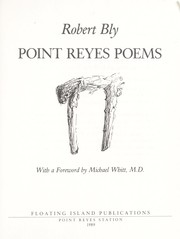 Cover of: Point Reyes poems