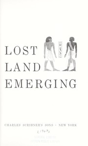Cover of: Lost land emerging | Emery, Walter B.