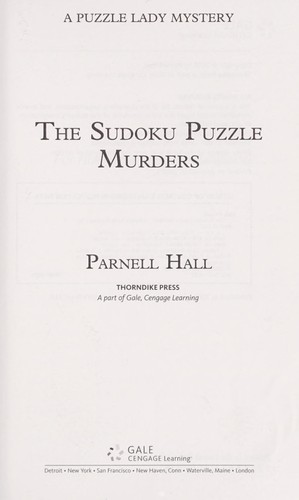 The sudoku puzzle murders by Parnell Hall