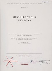 Cover of: Miscellaneous weapons