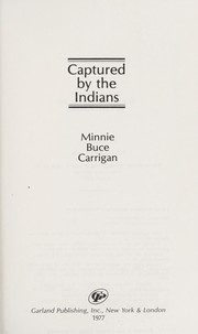 Cover of: Captured by the Indians