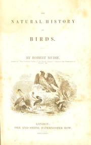 Cover of: The natural history of birds