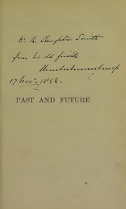 Cover of: Past and future | Charles Moore Jessop
