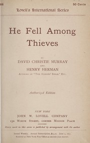 Cover of: He fell among thieves | David Christie Murray