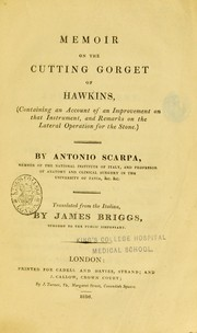 Cover of: Memoir on the cutting gorget of Hawkins
