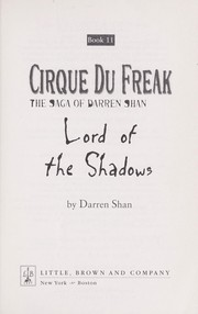 Cover of: Lord of the shadows | Darren Shan