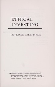 Cover of: Ethical investing | Amy L. Domini