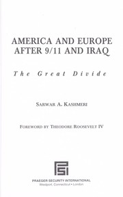 Cover of: America and Europe after 9/11 and Iraq | Sarwar A Kashmeri