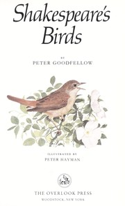 Cover of: Shakespeare's birds | Peter Goodfellow