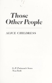 Cover of: Those other people
