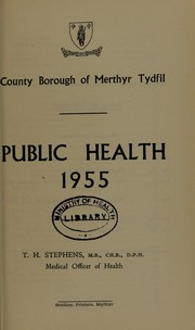 Cover of: [Report 1955] | Merthyr Tydfil (Wales : County). Borough Council