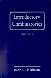 Cover of: Introductory combinatorics