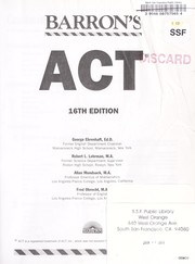 Cover of: Barron's ACT