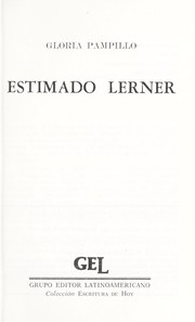 Cover of: Estimado Lerner