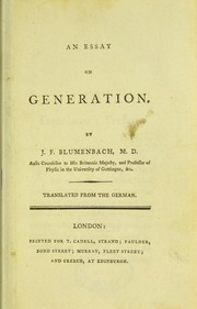 Cover of: An essay on generation