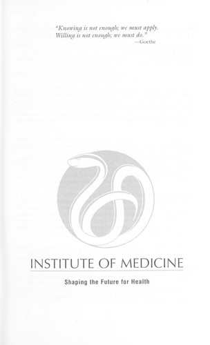 Improving the quality of long-term care by Institute of Medicine (U.S.). Committee on Improving Quality in Long-Term Care.