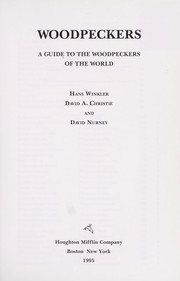 Cover of: Woodpeckers | Winkler, Hans