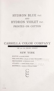 Cover of: Hydron colours on cotton yarn
