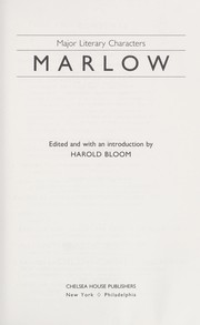 Cover of: Marlow | edited and with an introduction by Harold Bloom.