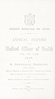 Cover of: [Report 1917]