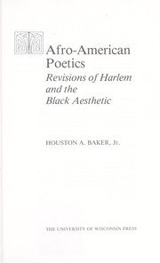 Cover of: Afro-American poetics: revisions of Harlem and the Black aesthetic