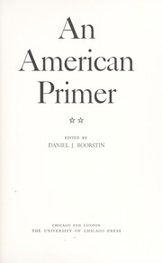 Cover of: An American Primer