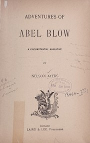 Cover of: Adventures of Abel Blow