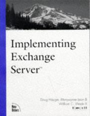 Cover of: Implementing Exchange server |