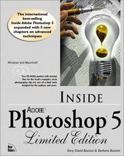 Cover of: Inside Adobe(R) Photoshop(R) 5 (Limited Edition) | Gary David Bouton