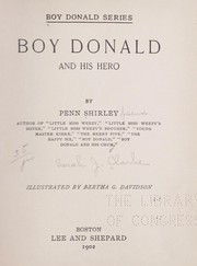 Cover of: Boy Donald and his hero
